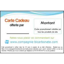 code promotionnel  valable sur le site de la compagnie du bicarbonate