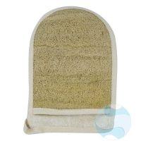 Gant loofah XL grande taille - recto en fibres de loofah