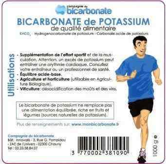 Bicarbonate de potassium KHC3