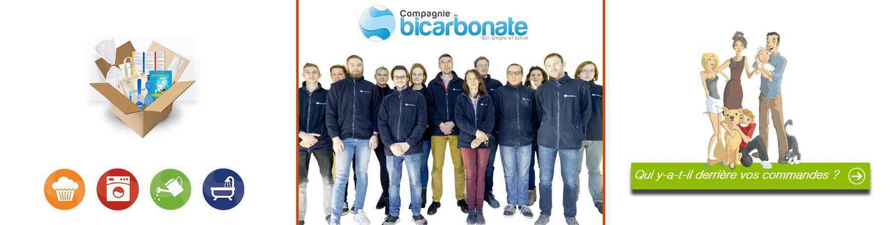 Equipe de la compagnie du bicarbonate