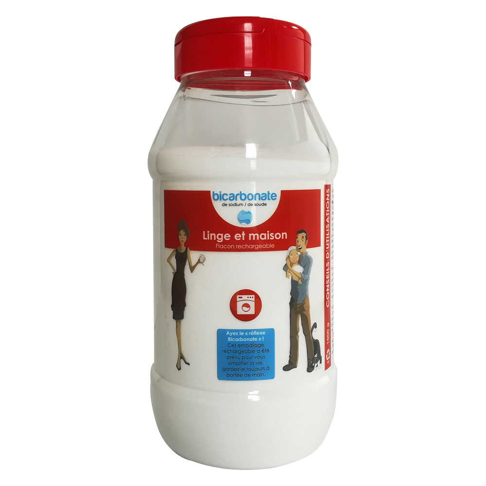 Bicarbonate Entretien linge et maison - Flacon Rechargeable 1000 g
