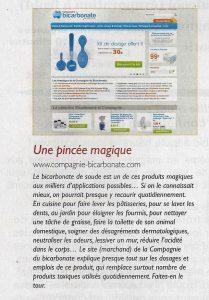 Article la Compagnie du Bicarbonate - Bio Info septembre 2013