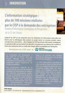 Article la Compagnie du Bicarbonate - CCI Infos Aisne décembre 2011