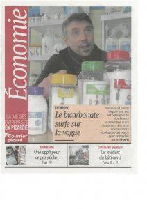 Partie Economie du Courrier Picard le 09 avril 2018